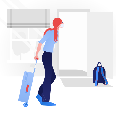 style  Woman going on a trip.  End of quarantine images in PNG and SVG | Icons8 Illustrations
