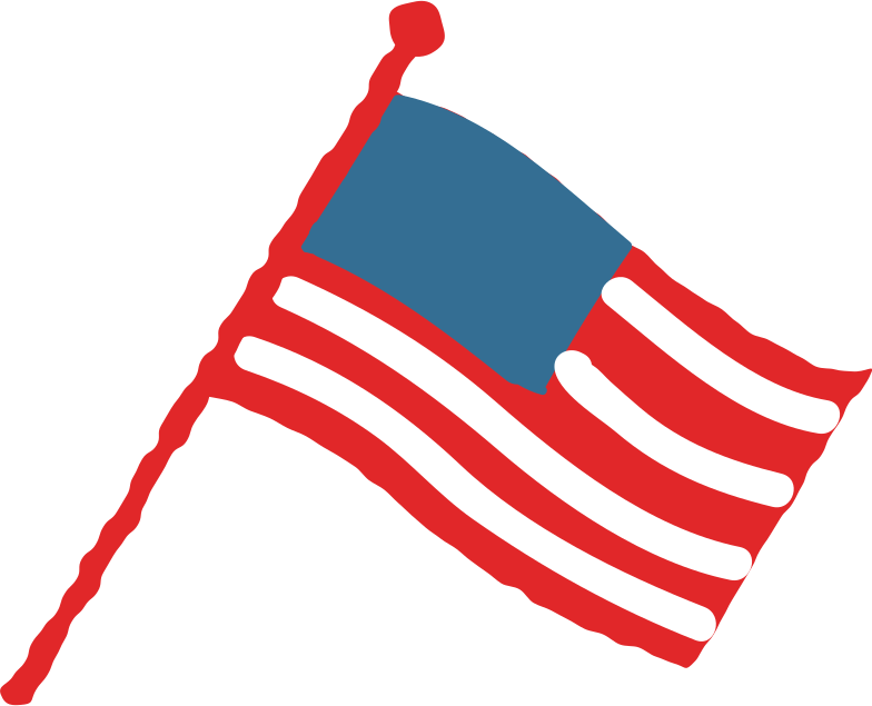 usa flag no stars Clipart illustration in PNG, SVG