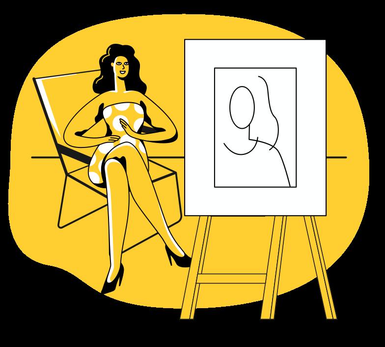 Portrait Clipart illustration in PNG, SVG