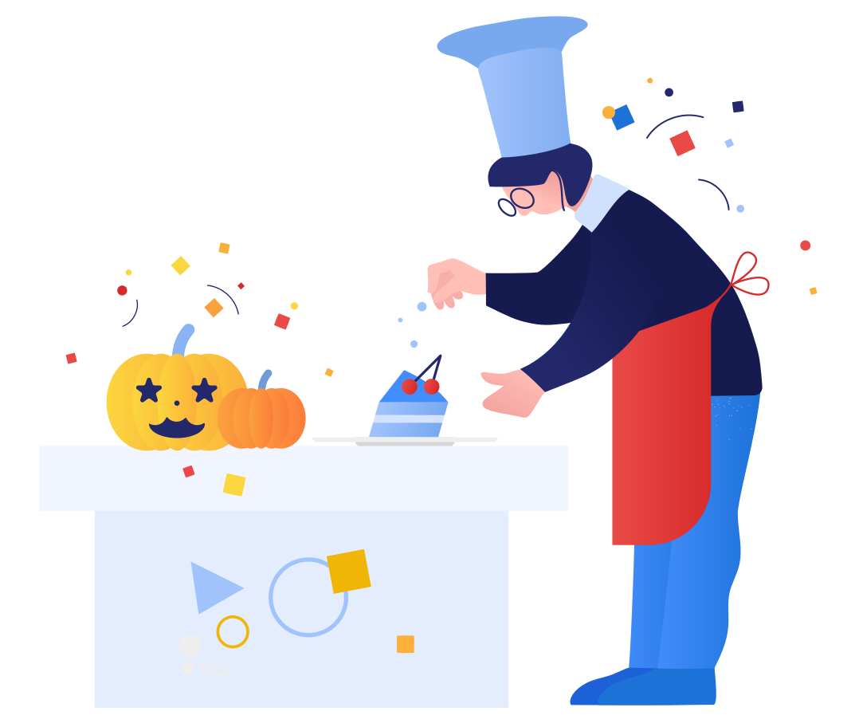 Halloween dinner Clipart illustration in PNG, SVG