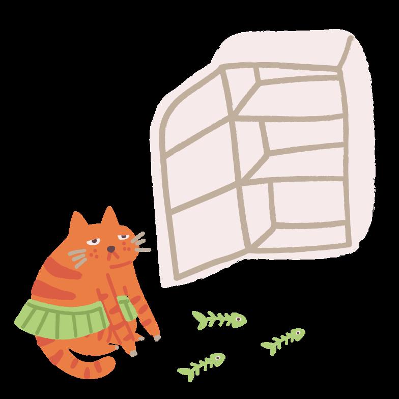 Empty fridge Clipart illustration in PNG, SVG
