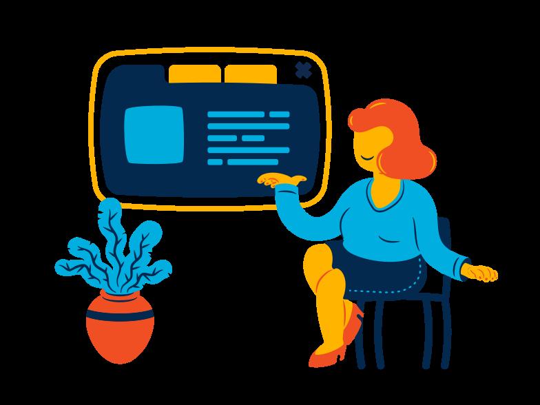 Online profile Clipart illustration in PNG, SVG