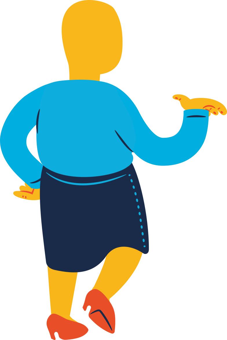 style chubby woman standing back profile Vector images in PNG and SVG | Icons8 Illustrations