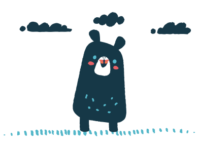 style Butterfly sits on the nose of a bear images in PNG and SVG | Icons8 Illustrations