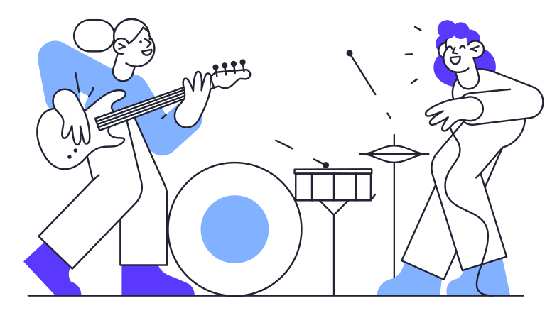 Music Band Clipart illustration in PNG, SVG