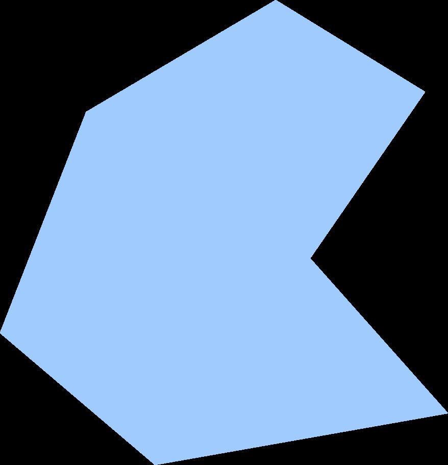 polygon-light-blue Clipart illustration in PNG, SVG