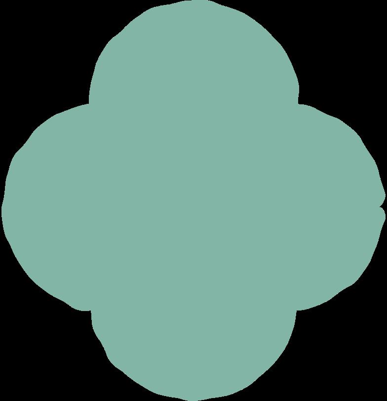 quatrefoil green Clipart illustration in PNG, SVG