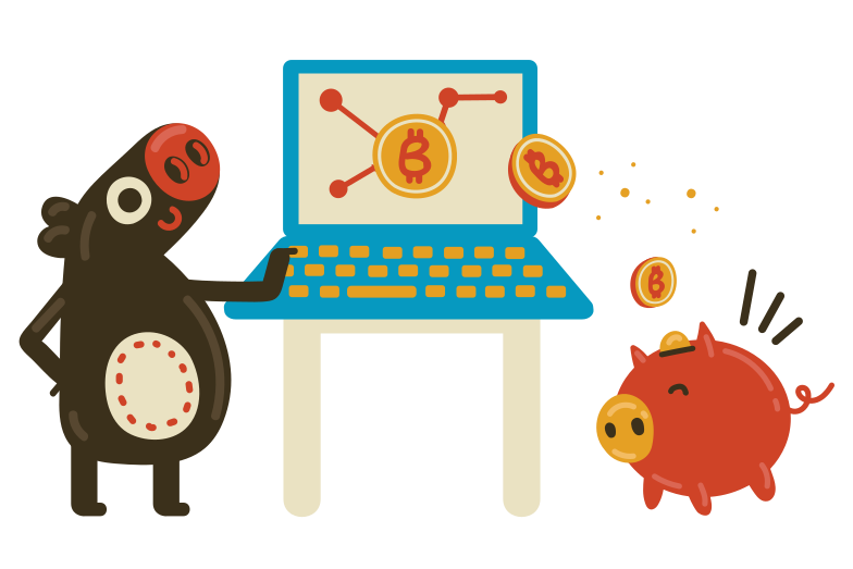 Bitcoin savings Clipart illustration in PNG, SVG