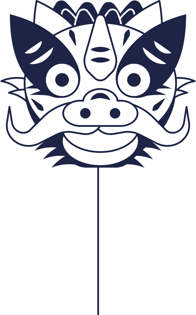 chinese dragon mask Clipart illustration in PNG, SVG
