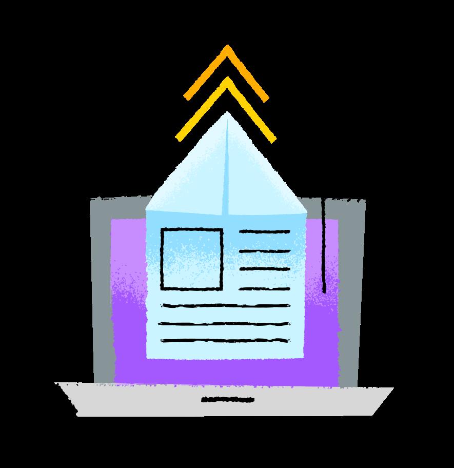 업로드 중 Clipart illustration in PNG, SVG