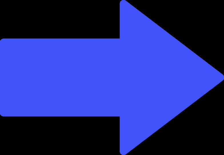 Illustration clipart Forme de flèche aux formats PNG, SVG
