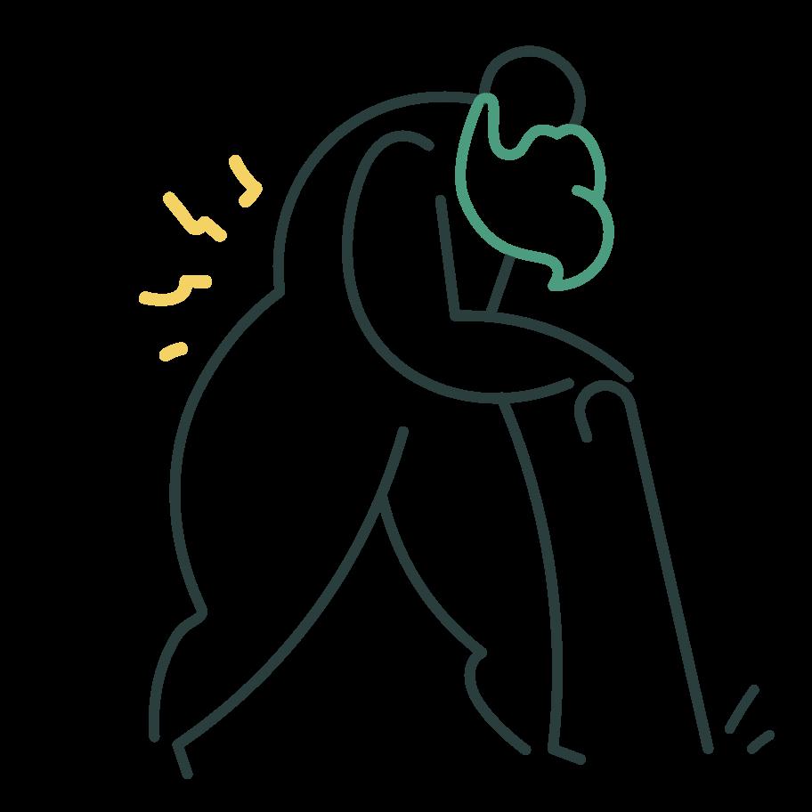 Old man Clipart illustration in PNG, SVG