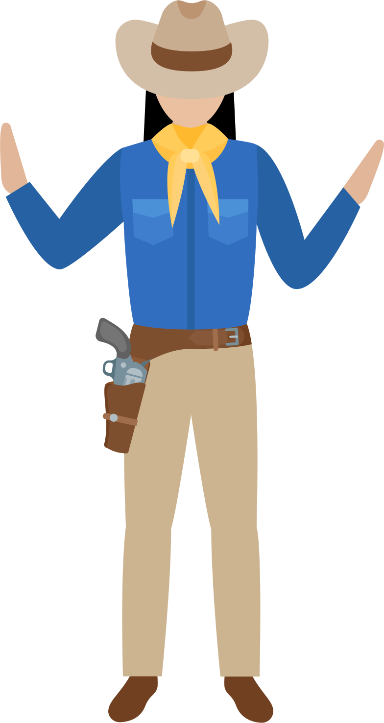 woman cowboy Clipart illustration in PNG, SVG