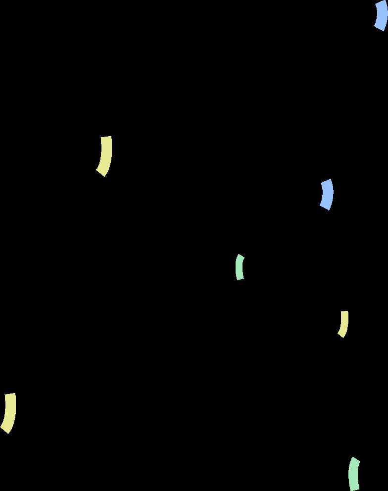 confetti Clipart-Grafik als PNG, SVG