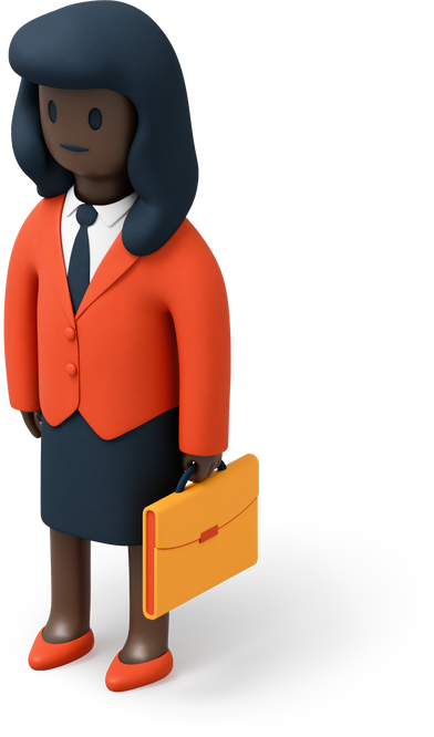 style Businesswoman with briefcase images in PNG and SVG | Icons8 Illustrations