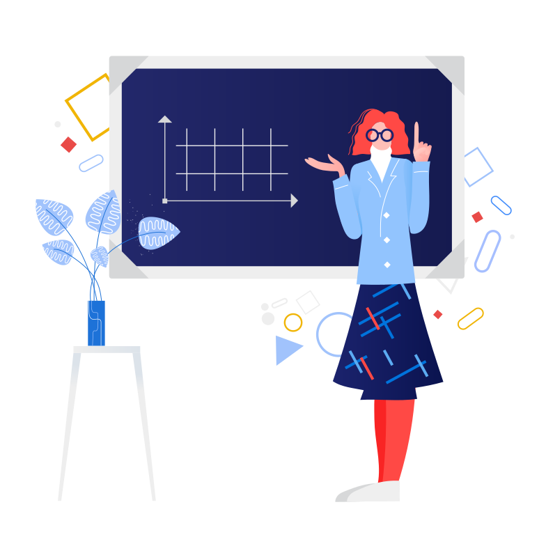 style Schoolteacher near the blackboard Vector images in PNG and SVG | Icons8 Illustrations