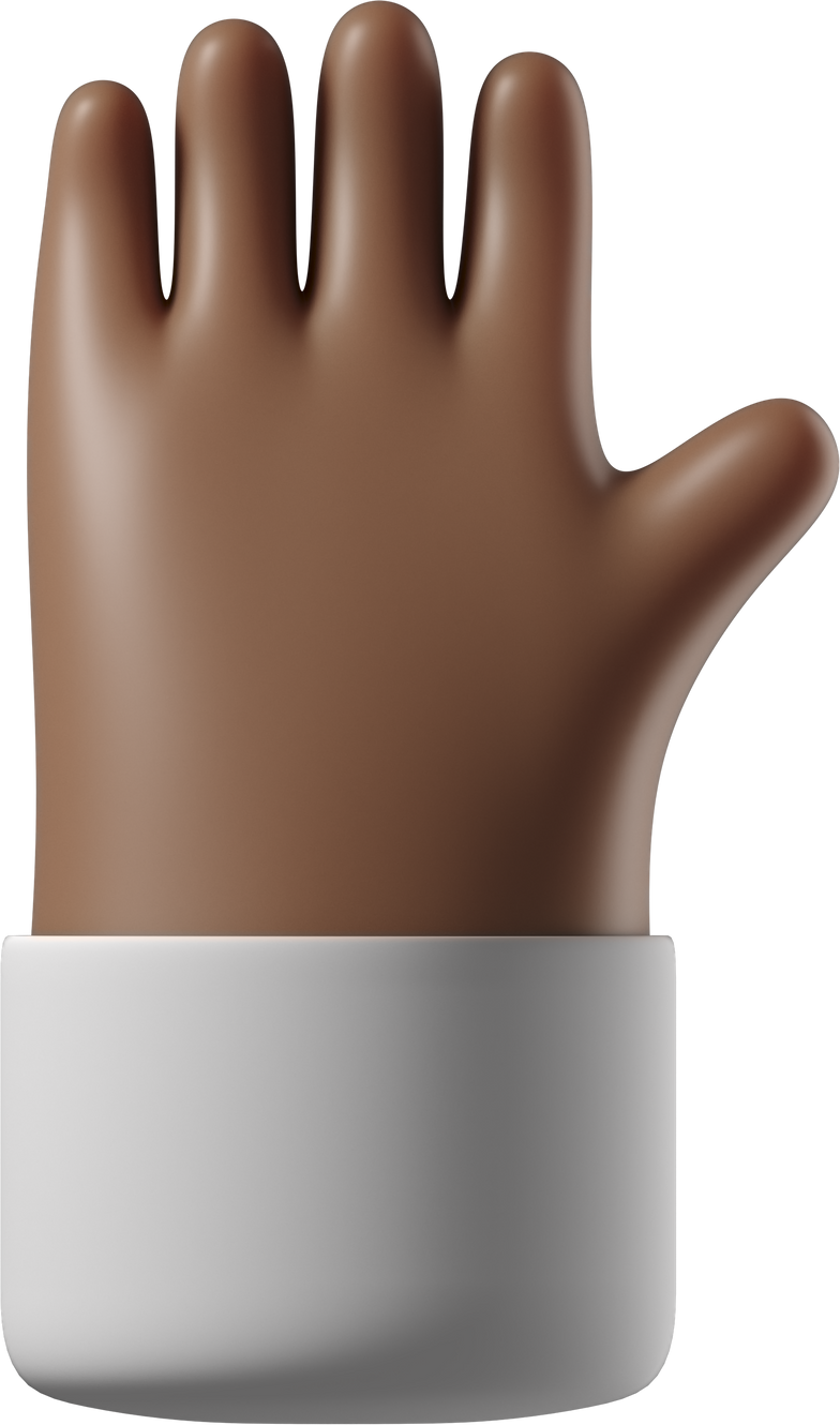 raised hand Clipart illustration in PNG, SVG