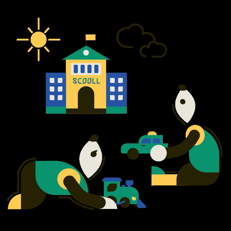 Kinderspiele Clipart-Grafik als PNG, SVG