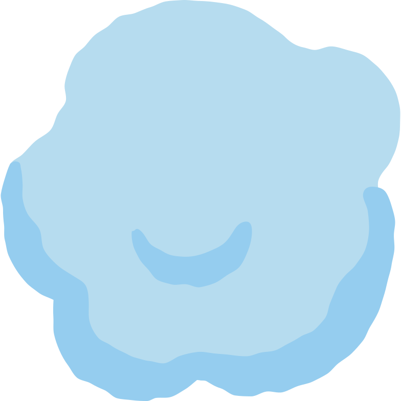 small chubby cloud Clipart illustration in PNG, SVG