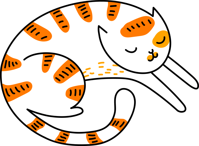 sleeping cat Clipart illustration in PNG, SVG