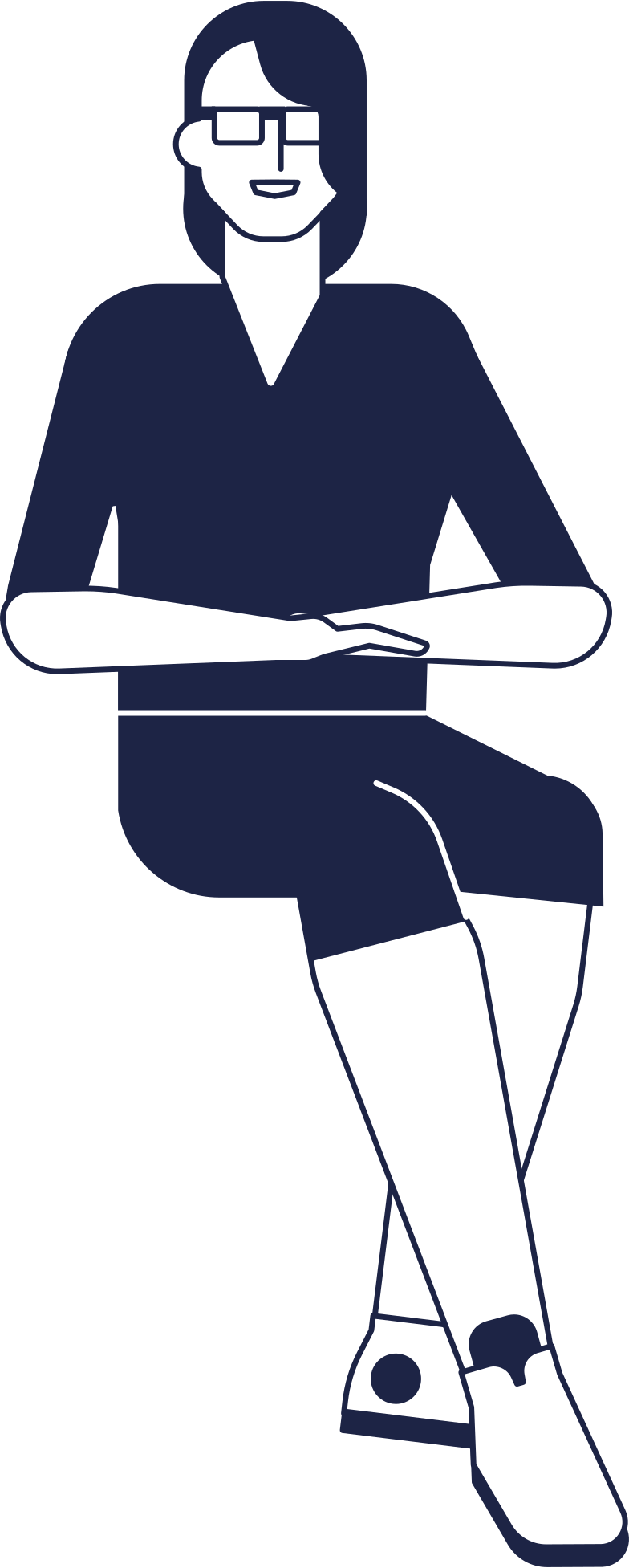 woman sitting at a table Clipart illustration in PNG, SVG