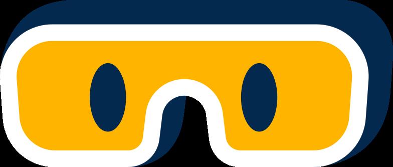 face hazmat glasses Clipart illustration in PNG, SVG