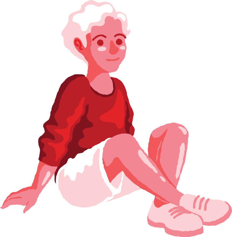 boy sitting front Clipart illustration in PNG, SVG