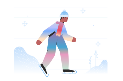 style Skating alone images in PNG and SVG | Icons8 Illustrations