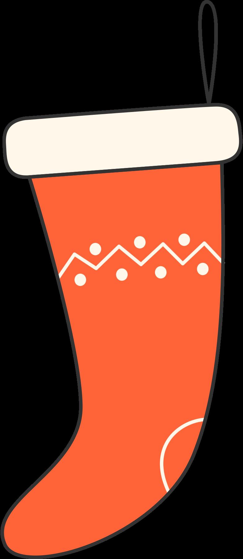 christmas sock Clipart illustration in PNG, SVG