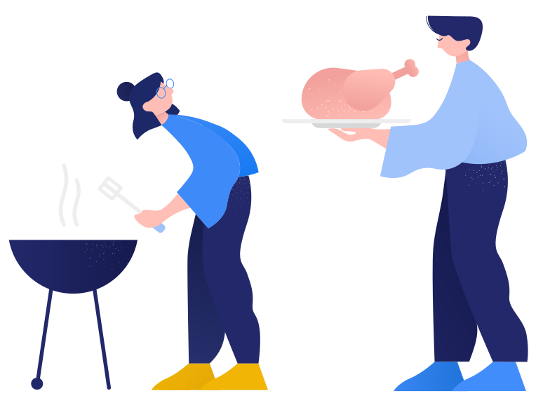Grilled chicken Clipart illustration in PNG, SVG