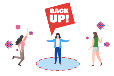 style Back Up! Do not get closer images in PNG and SVG | Icons8 Illustrations
