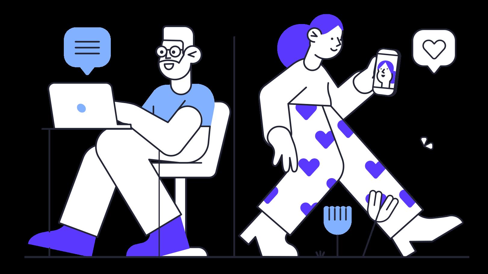 Imágenes vectoriales Red social en PNG y SVG estilo  | Ilustraciones Icons8