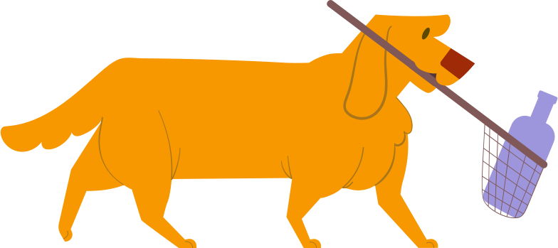 style labrador with net Vector images in PNG and SVG | Icons8 Illustrations