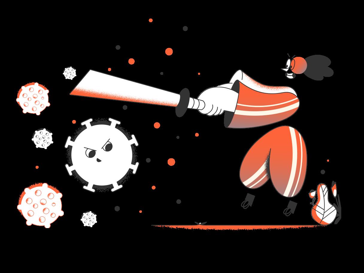 Fighting coronavirus Clipart illustration in PNG, SVG