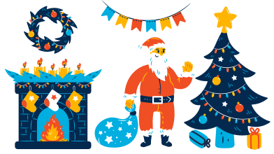 style Merry Christmas! images in PNG and SVG | Icons8 Illustrations