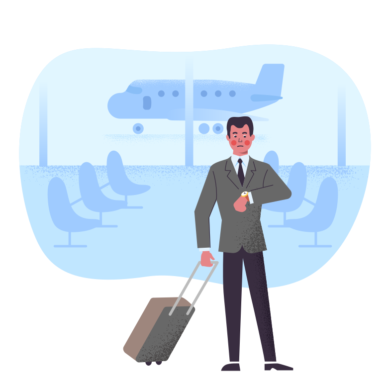 style Flight delay Vector images in PNG and SVG | Icons8 Illustrations