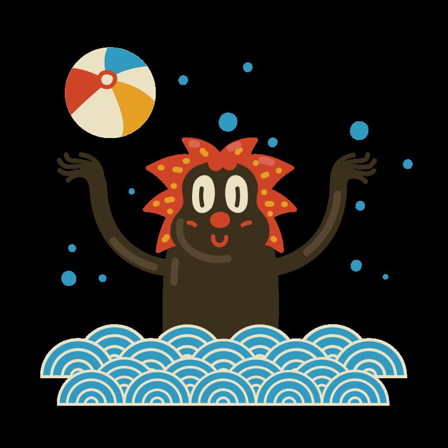 Summer sea Clipart illustration in PNG, SVG