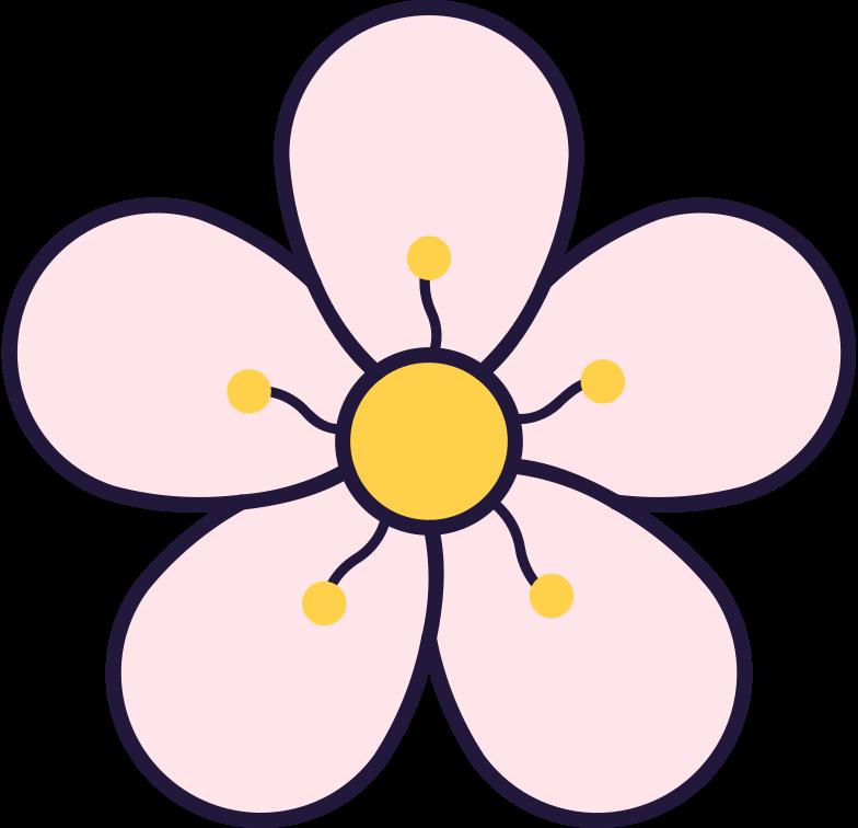 plum flower Clipart illustration in PNG, SVG