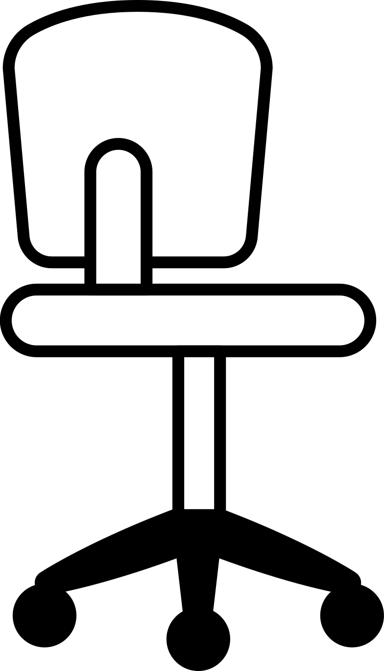 computer chair Clipart illustration in PNG, SVG