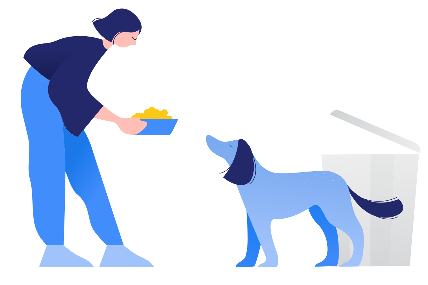 Caring for stray animals Clipart illustration in PNG, SVG