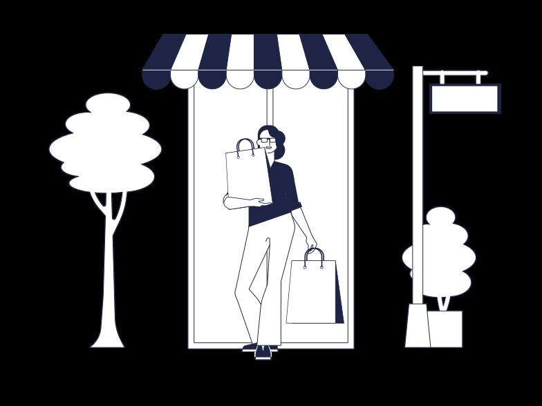 Клипарт Покупка товаров в PNG и SVG