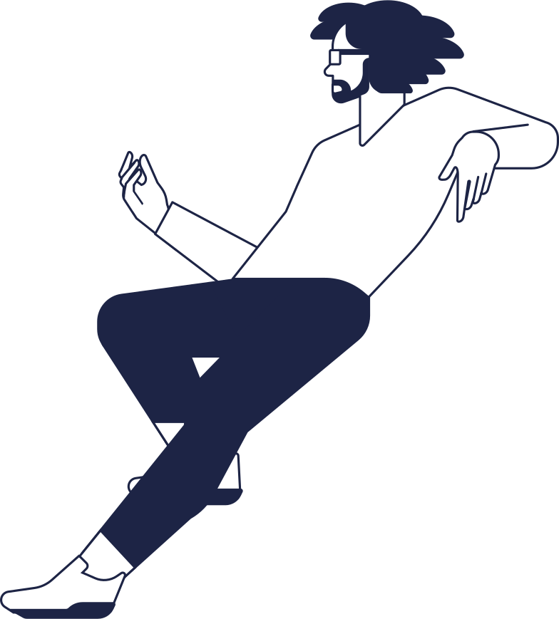 no connection  man sitting line Clipart illustration in PNG, SVG