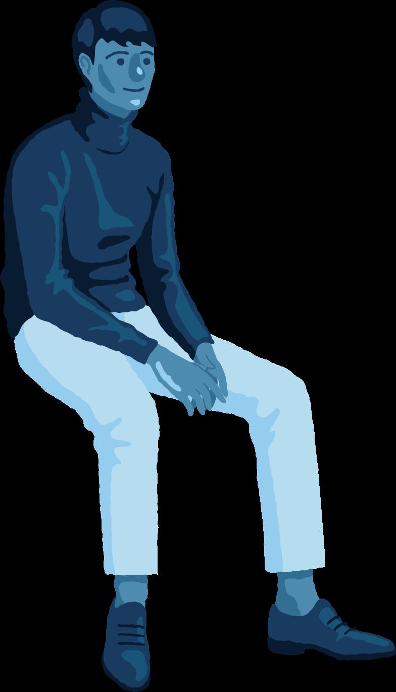 man sitting front Clipart illustration in PNG, SVG