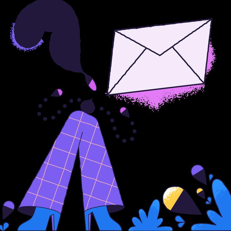 Receive a letter Clipart illustration in PNG, SVG