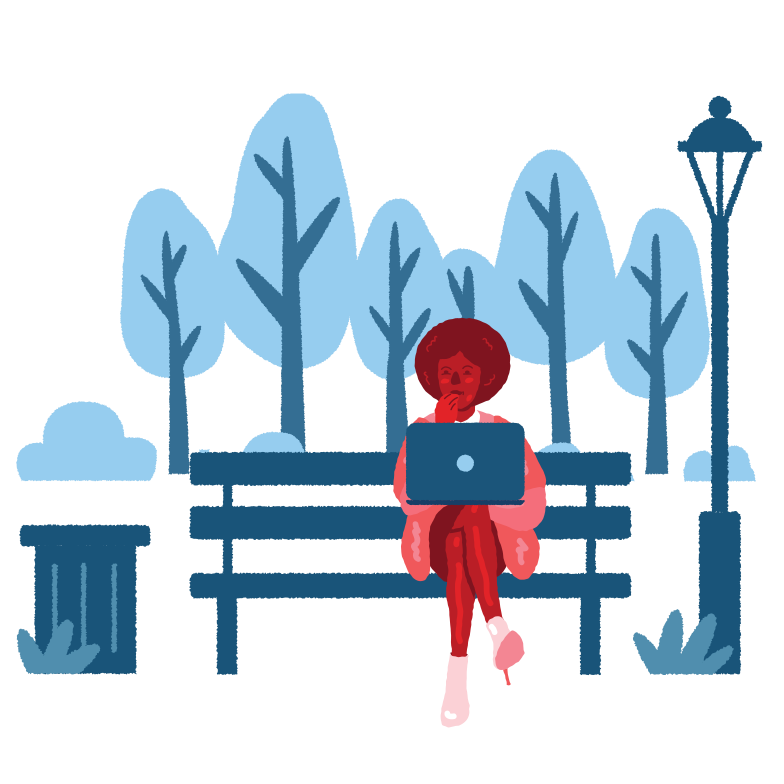 Work from anywhere Clipart illustration in PNG, SVG