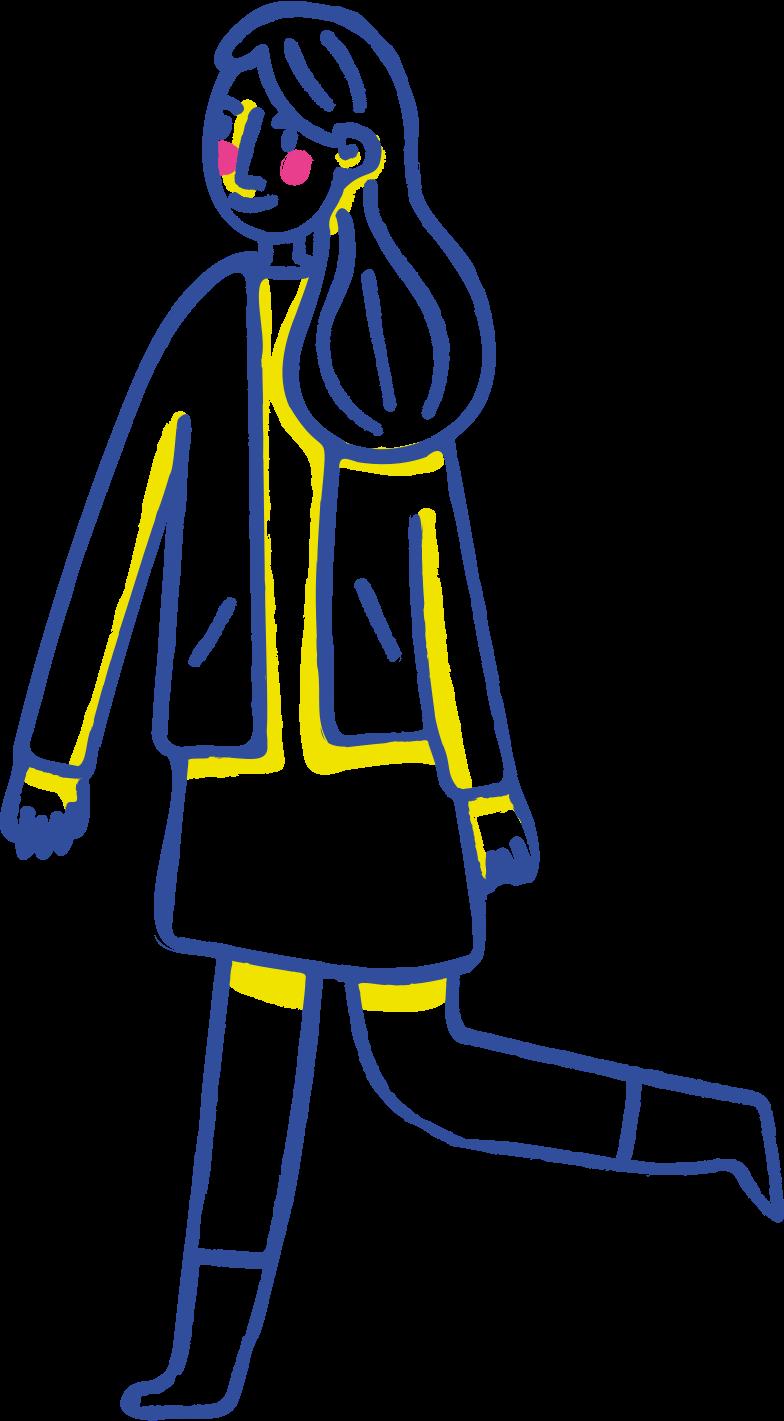 walking girl Clipart illustration in PNG, SVG