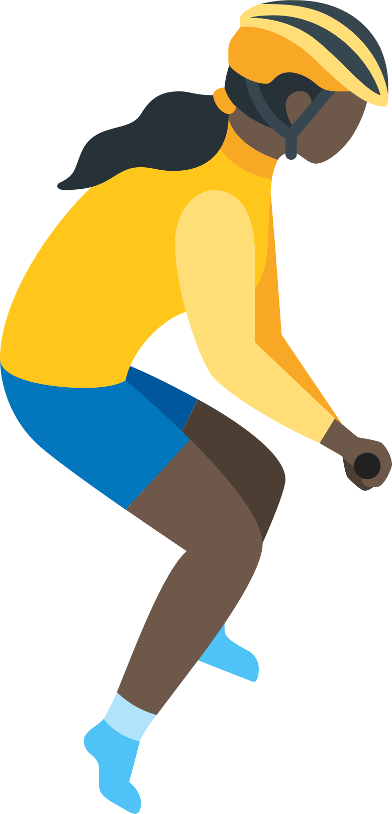 girl cyclist Clipart illustration in PNG, SVG