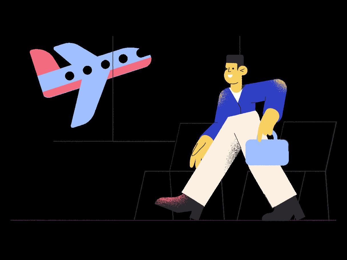 Ilustración de clipart de irse de vacaciones en PNG, SVG