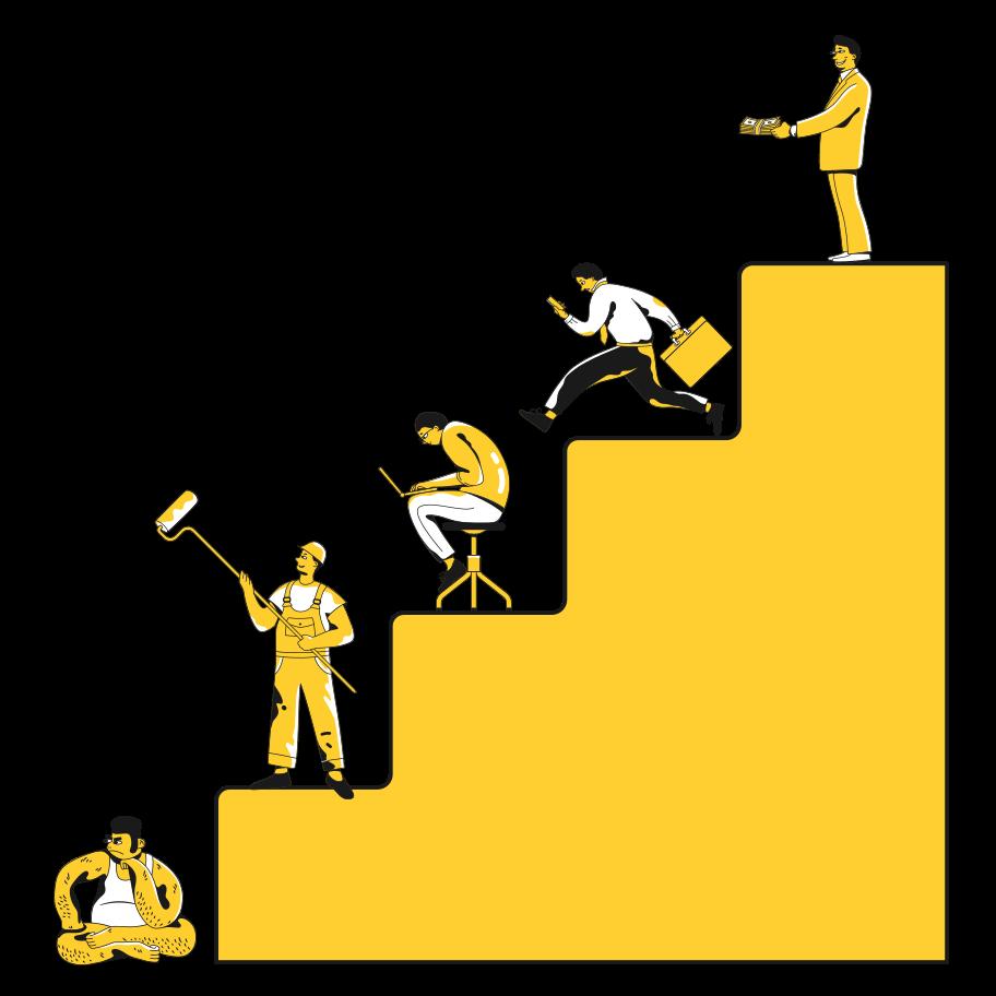 Career ladder Clipart illustration in PNG, SVG