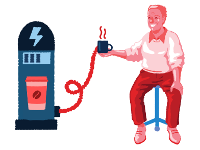 style Coffee energy images in PNG and SVG | Icons8 Illustrations
